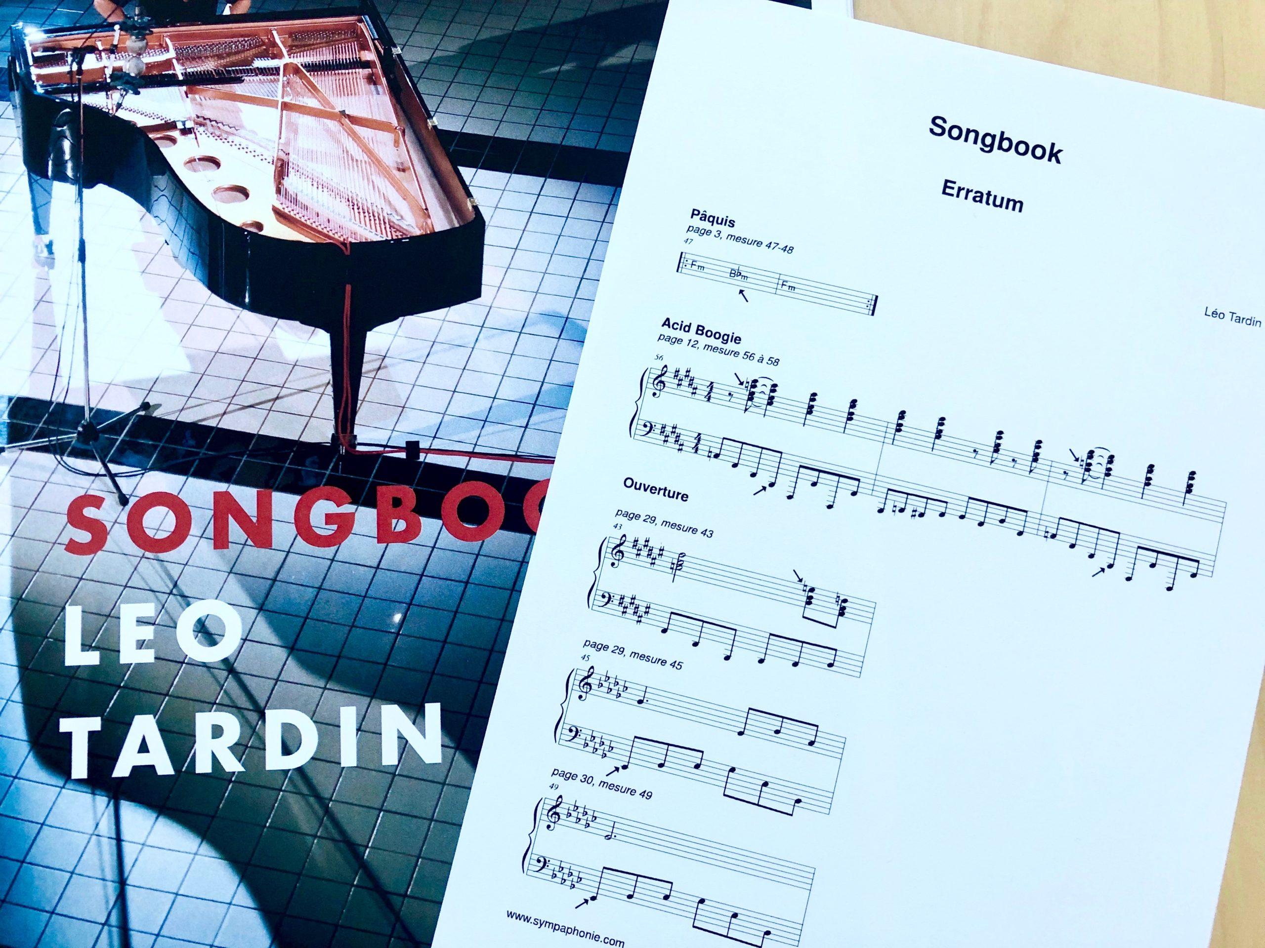 Songbook erratum (addendum)